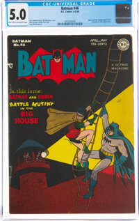 Batman #46 (DC, 1948) CGC VG/FN 5.0 Light tan to off-white pages