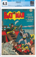 Golden Age (1938-1955):Superhero, Batman #43 (DC, 1947) CGC VG+ 4.5 Light tan to off-white pages....