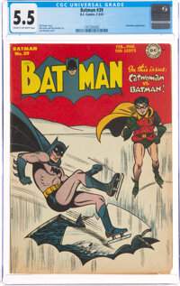 Batman #39 (DC, 1947) CGC FN- 5.5 Cream to off-white pages