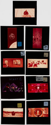 "2001: A Space Odyssey (MGM, 1968). Very Fine. Rare 70mm Frames for Publicity Production (9) (2.5"" X 2.5""). Sci..."