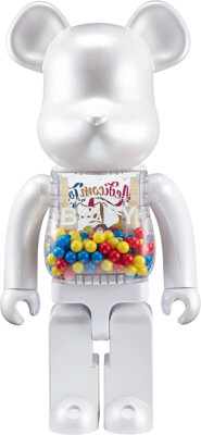 BE@RBRICK X Chiaki My First Be@rbrick B@by 1000% (Medicom Toy 15th Anniversary Version), 2011 Painted cast resin 28 x