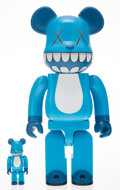 Collectible, BE@RBRICK X KAWS. Chompers 400% and 100% (two works), 2003. Painted cast vinyl. 10-3/4 x 5 x 3-1/2 inches (27.3 x 12...