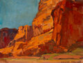 Paintings, Edgar Alwin Payne (American, 1883-1947). Canyon de Chelly. Oil on canvas laid on board . 11-1/2 x 15 inches (29.2 x 38.1...