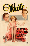 """Movie Posters:Comedy, Playing Around (Warner Bros., 1930). Fine/Very Fine on Linen. One Sheet (27"""" X 41"""") Style A.. ..."""