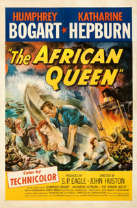 """The African Queen (United Artists, 1952). Fine+ on Linen. One Sheet (27"""" X 41"""")"""
