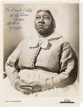 Movie/TV Memorabilia:Autographs and Signed Items, Hattie McDaniel Signed and Inscribed MCA Promo Photo....
