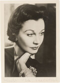 Movie/TV Memorabilia:Autographs and Signed Items, Vivien Leigh Signed Photo....