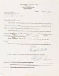 Movie/TV Memorabilia:Autographs and Signed Items, Peter Lawford Signed Colorado State Fair Offer Letter (1972). ...