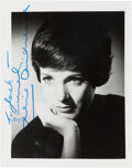 Movie/TV Memorabilia:Autographs and Signed Items, Julie Andrews Signed Photo....
