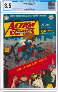 Action Comics #135 (DC, 1949) CGC VG- 3.5 Off-white to white pages