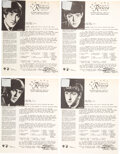 Music Memorabilia:Memorabilia, The Beatles Set of Four Bed Sheet Swatches Riviera Hotel, New York (1964). ...