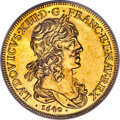 France, France: Louis XIII gold Early Restrike 10 Louis d'Or 1640-A MS61 NGC,...
