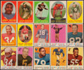 Football Cards:Lots, 1958-59 Topps Football Collection (181) Plus Six 1965 Philadelphia Cards....