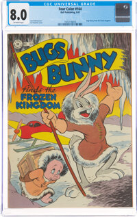 Four Color #164 Bugs Bunny (Dell, 1947) CGC VF 8.0 Off-white pages