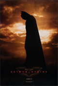 """Movie Posters:Action, Batman Begins (Warner Bros., 2005). Rolled, Very Fine-. One Sheet (27"""" X 40"""") DS Advance. Action.. ..."""