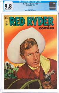 Red Ryder Comics #100 (Dell, 1951) CGC NM/MT 9.8 Off-white to white pages