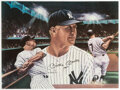 Autographs:Others, Mickey Mantle Signed Oversized Print. ...