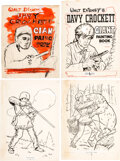 Animation Art:Production Drawing, Davy Crockett Giant Painting Book Title Page and Interior Page Illustrations Group of 24 (Walt Disney/Dean & Son, c. 1... (Total: 24 Items)