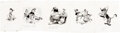 Animation Art:Production Drawing, Pinocchio Storybook Illustrations by Campbell Grant Original Art Group of 5 (Walt Disney/Simon & Shuster, 1948). ... (Total: 5 Items)