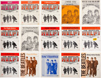 The Beatles Original Assortment of Sheet Music from the Movie Help! (15) (USA, 1960s). <