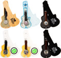 Music Memorabilia:Memorabilia, The Beatles Set of Six Watches in Guitar Shaped Case (1990s). ...
