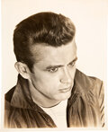 Movie/TV Memorabilia:Autographs and Signed Items, James Dean Signed Promo Photo....