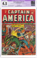 Golden Age (1938-1955):Superhero, Captain America Comics #6 (Timely, 1941) CGC Apparent VG+ 4.5 Slight (B-1) Cream to off-white pages....
