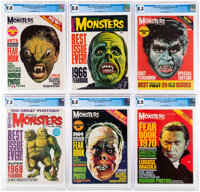 Famous Monsters of Filmland Yearbook CGC-Graded Group of 6 (Warren, 1966-72).... (Total: 6 Items)