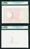 Angola Lithographic Underprint Set of 4 Examples PMG Holdered. ... (Total: 4 notes)