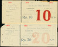 India Jhalawad Bank Dhrangadra Group Lot of 4 Examples Very Fine-Extremely Fine. ... (Total: 4 notes)