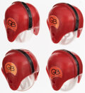 Football Collectibles:Others, 1968 Ultra Rare 1968 Hong Kong Gumball Helmets - Green Bay Packers, Lot of 4....