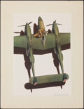 """Movie Posters:War, Lockheed """"Lightning""""-World's Fastest Fighter by Ren Wicks (Lockheed, 1942). Rolled, Very Fine. Special Poster (16.75""""..."""