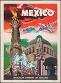 """Movie Posters:Miscellaneous, Mexico (Mexican General Office of Tourism, 1940s). Rolled, Very Fine. Travel Poster (13.75"""" X 18.75"""") S. Turanzas del Velle ..."""