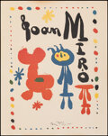 "Movie Posters:Miscellaneous, Joan Miro (1950s). Rolled, Very Fine-. Poster (15.25"" X 20"") Joan Miro Artwork. Miscellaneous.. ..."