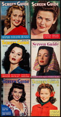 """Movie Posters:Miscellaneous, Screen Guide (Cecelia Company/Triangle Publications, 1940-1946). Overall: Fine. Magazines (11) (Multiple Pages, 10.25"""" X 13...."""