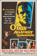 "Movie Posters:Crime, Odds Against Tomorrow (United Artists, 1959). Folded, Very Fine. One Sheet (27"" X 41""). Crime.. ..."