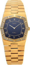 Timepieces:Wristwatch, Rolex, Very Fine 18k Gold Cellini Ref. 4370, circa 1981. ...