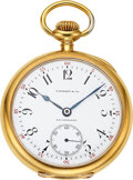 Timepieces:Pocket (post 1900), Tiffany & Co., 18k Gold Pocket Watch By Agassiz W. Co., circa 1905. ...