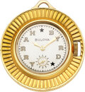 Timepieces:Wristwatch, Bulova, Rare 18k Gold Coin Form Pocket Watch Made For Senator Harry Byrd in 1951. ...
