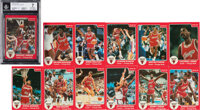 1984-85 Star Co. Chicago Bulls Complete Set (12) With #101 Michael Jordan BGS NM 7
