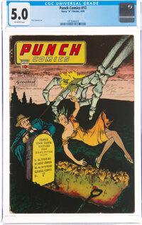 Punch Comics #13 (Chesler, 1945) CGC VG/FN 5.0 Off-white pages