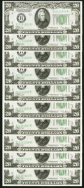 Fr. 2056-B $20 1934B Federal Reserve Notes. Ten Consecutive Examples. Choice Crisp Uncirculated. ... (Total: 10 notes)
