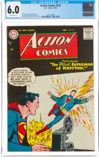 Action Comics #223 (DC, 1956) CGC FN 6.0 Off-white pages