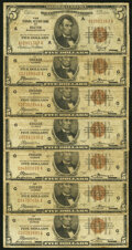 Fr. 1850-A; G (6) $5 1929 Federal Reserve Bank Notes. Very Good or Better. ... (Total: 7 notes)