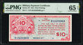 Military Payment Certificates:Series 471, Series 471 $10 PMG Gem Uncirculated 65 EPQ.. ...
