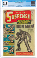 Silver Age (1956-1969):Superhero, Tales of Suspense #39 (Marvel, 1963) CGC VG- 3.5 Cream to off-white pages....