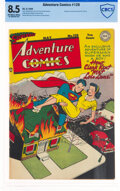 Golden Age (1938-1955):Superhero, Adventure Comics #128 (DC, 1948) CBCS VF+ 8.5 Off-white to white pages....