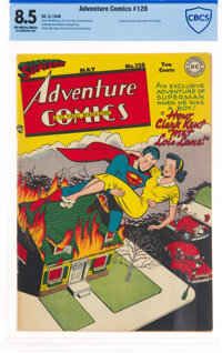 Adventure Comics #128 (DC, 1948) CBCS VF+ 8.5 Off-white to white pages