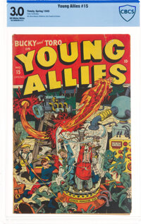 Young Allies Comics #15 (Timely, 1945) CBCS GD/VG 3.0 Off-white to white pages