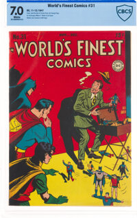 World's Finest Comics #31 (DC, 1947) CBCS FN/VF 7.0 White pages